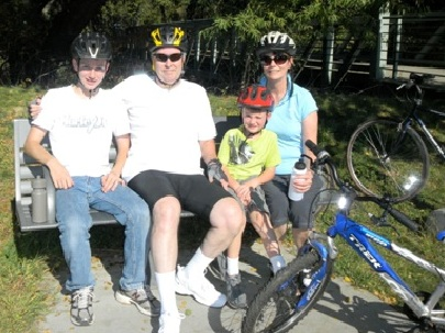 Biking with grandsons